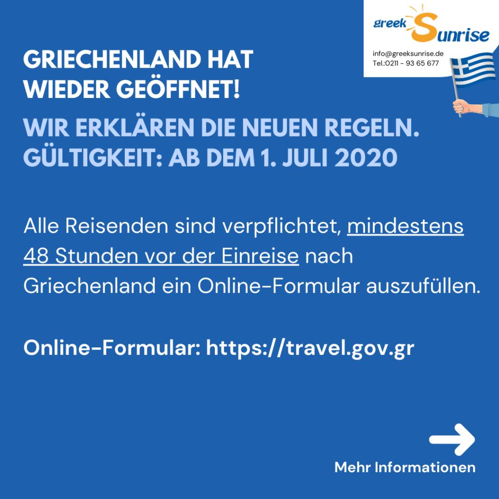 Einreisebestimmungen nach Griechenland