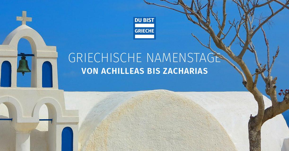 griechische namenstage liste deutsch