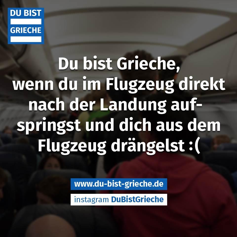 Griechen im Flugzeug