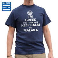 i cant keep calm malaka greek T-Shirt unisex