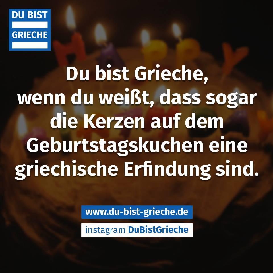 du bist grieche Kerzen auf Kuchen Geburtstag