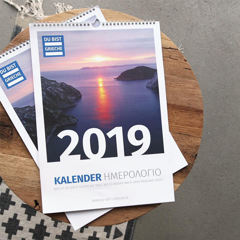 du bist grieche kalender 2019 cover