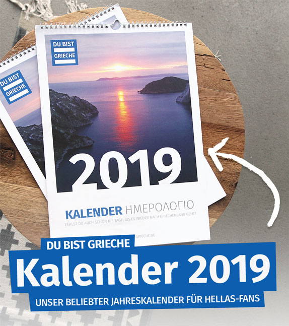 griechenland kalender 2019 titelbild du bist grieche