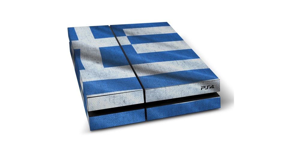 Sony PlayStation 4 Folie Griechenland Flagge PS4