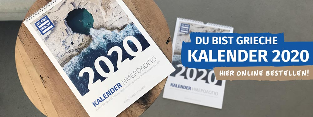 griechenland kalender 2020 titelbild du bist grieche